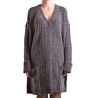 Liviana Conti Ezbc261008 Dames's Grey Wool Cardigan