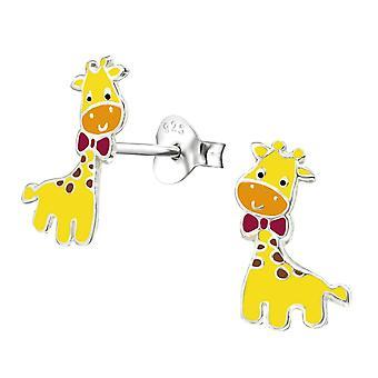 Children's Sterling Silver Cartoon Giraffe Earrings