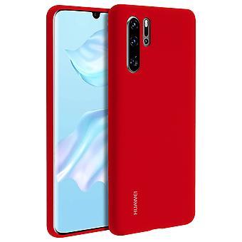 Huawei P30 Pro pehmeä kotelo Huawei semi-jäykkä silikoni-punainen