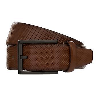 MONTI DUBLIN Belt Men's Belt Leather Belt Cognac 8038