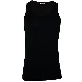 Dolce & Gabbana sport Pima bomuld stretch gym vest, sort