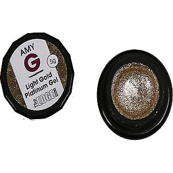 Die Kantennägel Amy G - Metallic Platin Gele - Light Gold 5g (3003040)