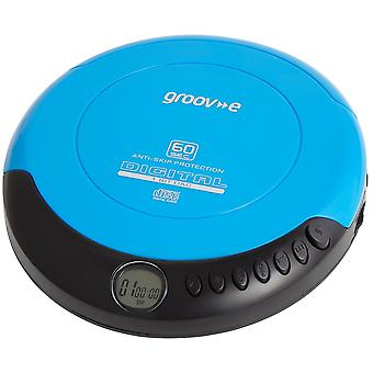 Groov-e Retro Series Personal CD Player with Earphones - Blue (GVPS110BE)