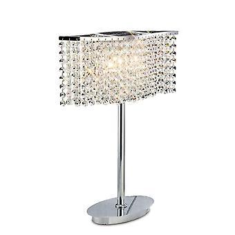 Diyas Fabio Table Lamp 2 Light Polished Chrome/Crystal