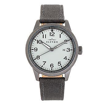 Elevon Bandit Leather-Band Watch w/Date - Grey