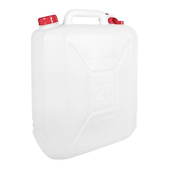 Milestone Transparent Plastic Water Jerry Can White 25L