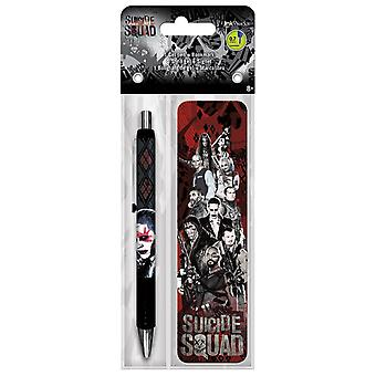 Gel Pen - Suicide Squad - w/Bookmark Packs Toys Gifts Stationery New iw3582