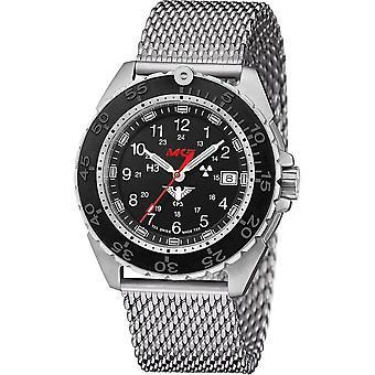 KHS Wristwatch الرجال المنفذ الصلب CR مع حزام شبكة الفضة- KHS. ENFSCR.MS