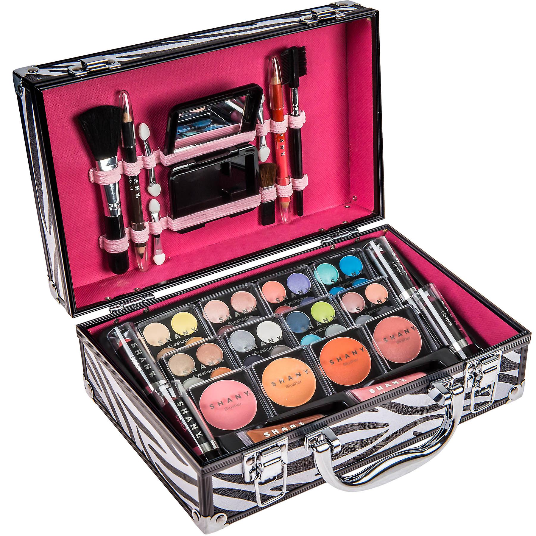SHANY Carry All Makeup Train Case with Pro Makeup, Reusable Aluminum Case