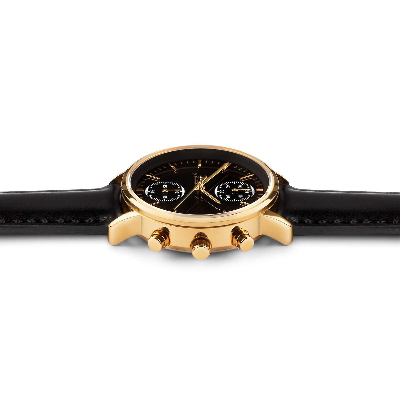 Carlheim | Armbandsur | Chronograph | Black dial | Tunø | Skandinavisk design