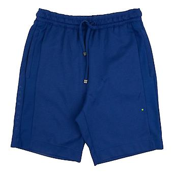 Hugo Boss Headlo Side Logo Cotton Shorts Bleu