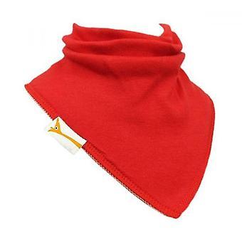 Red plain bandana bib