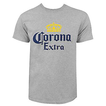 Corona Extra Logo Men's Gray T-Shirt