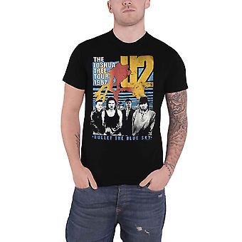 U2 T Shirt Bullet The Blue Sky Joshua Tree Tour 1987 new Official Mens Black