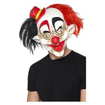 Mens Creepy Clown Mask Halloween Fancy Dress Accessory