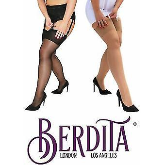 Berdita Lingerie 'Christina' Queen Size 15 Denier Reinforced Toe Nylon Stockings
