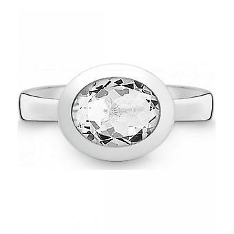 QUINN - Ring - Women - Silver 925 - Gemstone - White Topas - Width 56 - 21402620