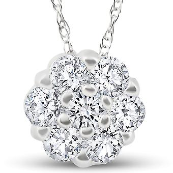 .49ct Diamond Pendant 14k White Gold