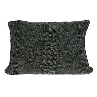 """24"""" x 5"""" x 16"""" Cubierta de almohada gris de transición con inserción hacia abajo"""