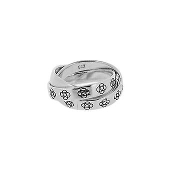 Celtic Round Knot Three Band Ring