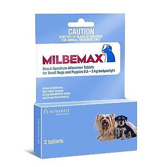 Milbemax Wormer Dogs Under 5kg (11lbs) - 2 Tablets