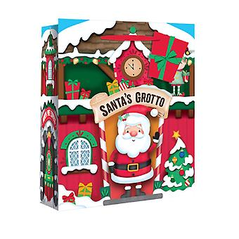 Eurowrap Christmas Gift Bags with Santas Grotto Design (Pack of 12)