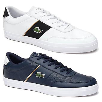 Lacoste Mens Court-Master 319 6 CMA Metallic Lace-Up Nappa Leather Trainers