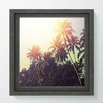 Square Dark Grey Photo Frame Picture Instagram Hoxton Black Wide Wood Effect Wall Mounted
