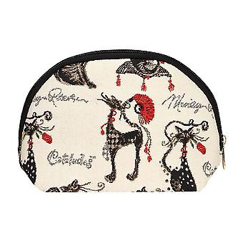 Marilyn robertson - catitude cosmetic bag by signare tapestry / cosm-cude