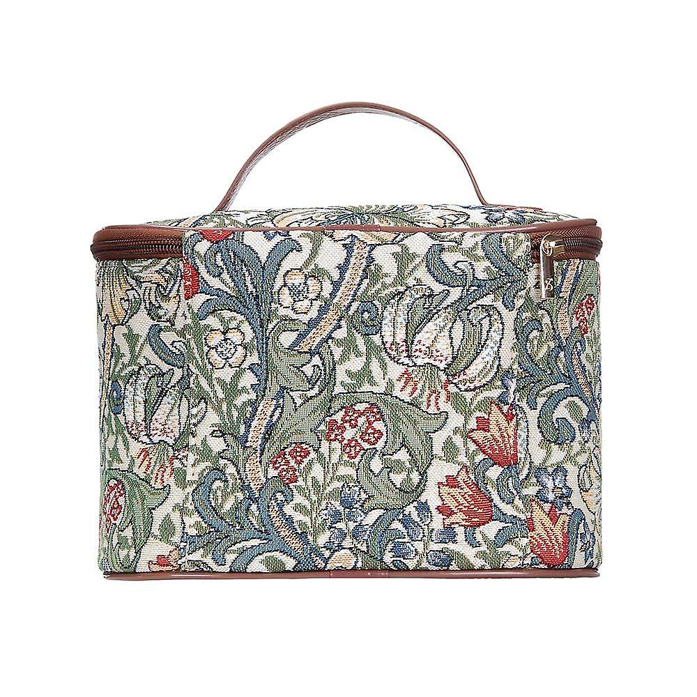 William morris - golden lily makeup bag by signare tapestry / toil-glily