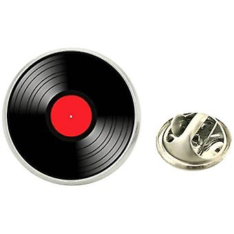 Bassin e Brown Vinyl Disc Lapel Pin - Preto