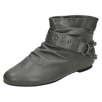 Girls Cutie H4056 Pull On Casual Ankle Boots