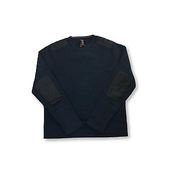 Victorinox Constable knitted top in navy with contrast patches