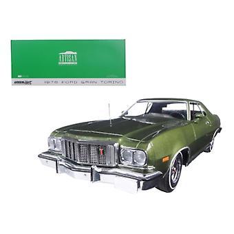 1976 Ford Gran Torino Dark Green Metallic 1/18 Diecast Model Car By Greenlight