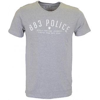 883 politie sneeuw mergel T-shirt grijs