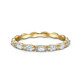 Swarovski ring 5535249-gull gull ring hvite krystaller