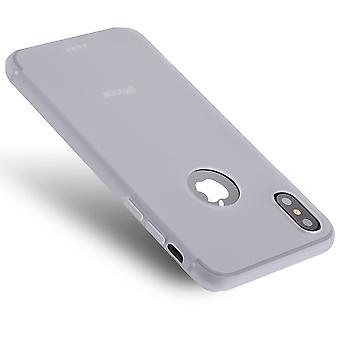 Til iPhone XS, X sag, Ren Farve Høj kvalitet holdbar afskærmning cover, hvid