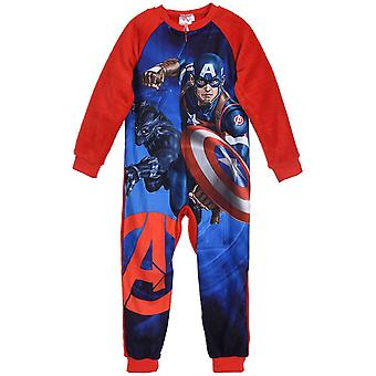 Jungen HS2118 Marvel Avengers Fleece Schlafanzüge / Onesie Pyjamas