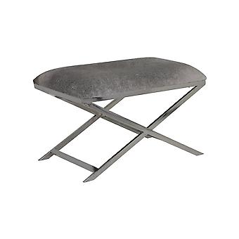 Light & Living Stool 75x45x49cm Grena Nickel Cowskin Grey