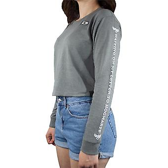Harry Potter wachten op mijn brief aan Zweinstein Grey Bijgesneden Long Sleeve Women's/Ladies T-Shirt S-XL