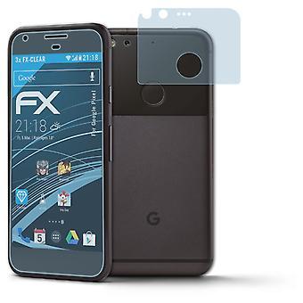 atFoliX 3x Screen chránič kompatibilný s Google pixel Screen Protection film jasný