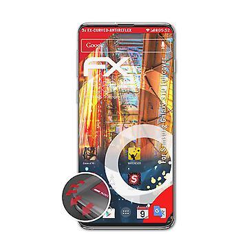 atFoliX 3x Lámina Protectora compatible con Samsung Galaxy S10 Fullcover transparente&flexible