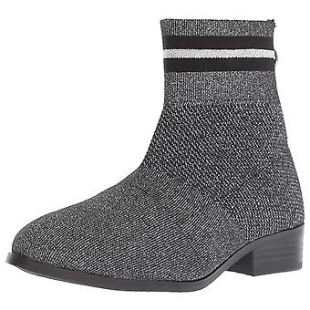 Kids Steve Madden Girls JGAL01S7 Fabric Ankle Zipper Chelsea Boots