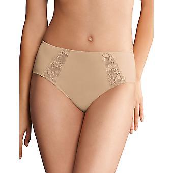 Rosa Faia 1340-753 Women's Grazia Desert Nude Embroidered Full Panty Highwaist Brief