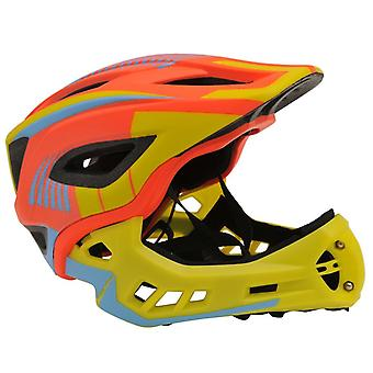 Kiddimoto IKON Full Face Helmet-Orange/Yellow