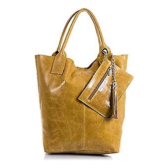 FIRENZE ARTEGIANI. Bag shopping bag real leather woman. Authentic shiny lacquered leather bag. Leather purses. MADE IN ITALY. REAL ITALIAN SKIN. 26 x 38 x 18 cm. Color: Leather