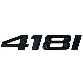 Matt Black BMW 418i Car Model Rear Boot Number Letter Sticker Decal Badge Emblem For 4 Series F32 F33 F36 G22 G23 G26