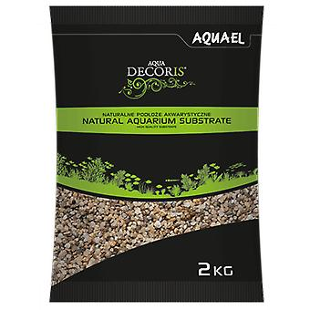 Aquael Grava Media Natural para Acuarios 3-5Mm 2Kg