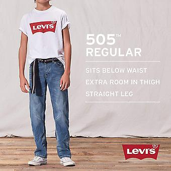 Levi's Boys' 505 Regular Fit Jeans, Bargeld, 10 Schlank