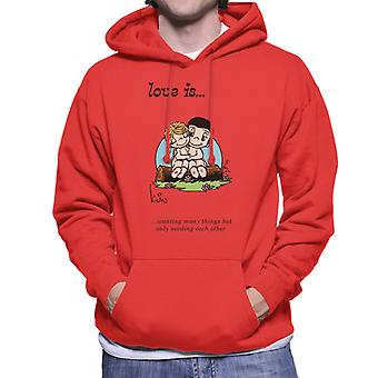 Love Is Wanting Many Things But Only Needing Each Other Men's Hooded Sweatshirt